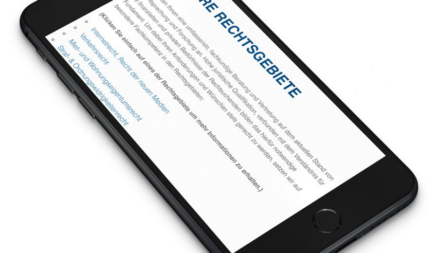 Referenz Website Gellert & Siegel | Rechtsanwälte in Gera
